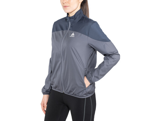 Odlo Core Light Jacket Damen odyssey gray-diving navy